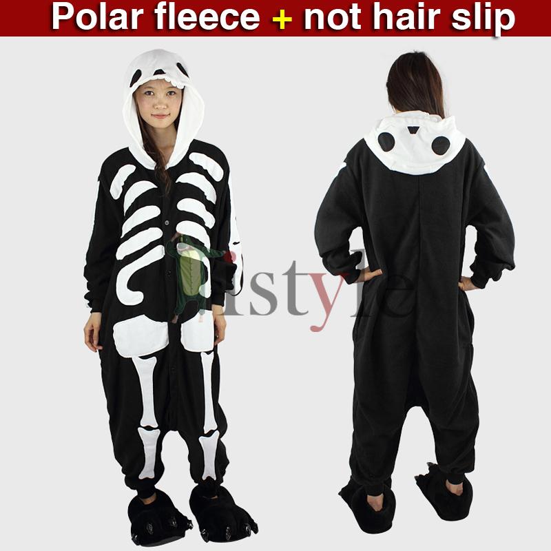 Cool skull animal onesies polar fleece onesie for adult warm christmas