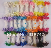Free shipping wholesale mixed color 3mm pearl flower stamen floral stamen cake decoration for DIY(2340pcs/lot)