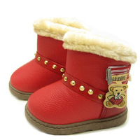 2014 new Children Winter shoes waterproof leather thermal cotton-padded shoes child snow boots for boys and girls shoes kids