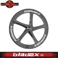 BEST CARBON 5 Spoke Wheel 5S - Five SPOKE Tubular; For Road Or Track; Triathlon / Time Trial Bike Wheel;Bicycle wheelset 5 spoke