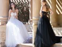 Glamorous Sweetheart Beaded Sheer Panel Tulle Party Dresses