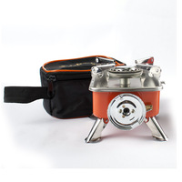 Portable camping gas stove hiking outdoor mini picnic Stove outdoor Gas Burner Steel BBQ Stove + Case