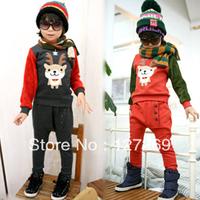 2013 Autumn New Style Clothing Set Sweatshirt +Pants 2pcs Set Korean Style Free Shipping