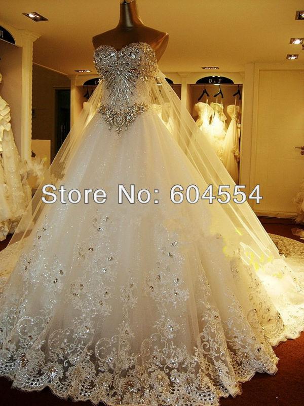 Nuovo costume realizzati in avorio/bianco raso tulle pizzo applique perline di cristallo diamante di un- linea abito da sposa abito da sposa