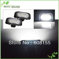 2PCS LED Light License Plate Lamp Fit BENZ W203 4D Sedan White Light FreeShipping