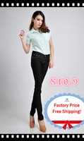 Free Shipping!!Big Sales 2013 Latest skinny jeans feet pencil ladies' jeans Plus Size 26-31 Jeans