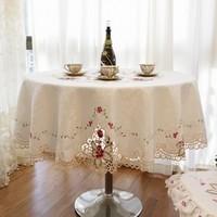 175cm Luxury fashion round  table cloth dining chair cover round  tablecloth free table cloth for party toalha de mesa