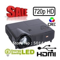 Free shipping 3000lumens native 1280*768 LED Beamer HD Ready LCD Video Projector