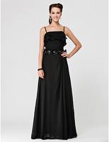 A-line Spaghetti Straps Floor-length Chiffon Bridesmaid Dress