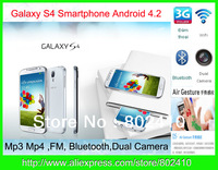 Galaxy S4 Phone MTK6577 Phone Android 4.2 Phone HD WIFI  BT G-Sensor Free Shipping