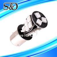 S&D Brand 12pcs pcs 1156 BAU15S 18 SMD Amber Yellow CANBUS OBC Error Free Tail LED Light Bulb Lamp py21w