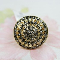 Free shipping 2014 new arrive accessories fashion flower delicate elastic female ring cv-4