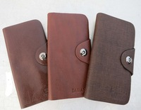 Free shipping 2013 new hot saleHigh quality_Men genuine leather cowhide business casual long design wallet fashion wallet