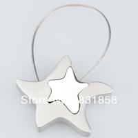 Star Keychain Car Male Women's Lovers Metal Steel wire Zinc  Rope Key Ring