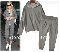S-XXXL! 2013 spring sports casual fashion sweatshirt set women's sport suit women free shipping