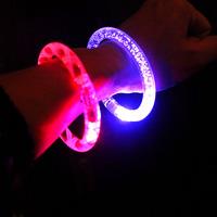 Christmas halloween decoration LED Flash Blinking Color Changing Party Bracelet Bangle party decoration 2216