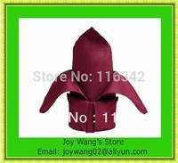 "2014 New Style 100% polyester plain 16""*16"" Burgundy  napkin for wedding Free Shipping"