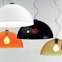 New hot sales Semi-cirle acrylic pendant light modern brief bedroom lights lamps with white,black,brown red color free shipping