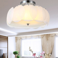Hot sales glass lotus lamp brief modern living room lamp restaurant ceiling light lamps free shipping