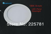 Free shipping DHL/FEDEX 8inch/18W Led panel light 10pcs/lot new Ultra thin design Downlight  AC90-250V