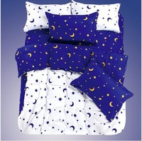 free shipping Polka dot piece bedding set 1.5 sanded twin bed sheets duvet cover piece set 1.2 meters