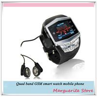 2013 new watch mobile phone fashion waterproof smart watch mobile phone Bluetooth cell phone mobile watch quad band watch phone