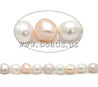 Free shipping!!!Baroque Cultured Freshwater Pearl Beads,Punk Style, mixed colors, AAA Grade, 11-12mm, Hole:Approx 0.8mm