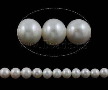Free shipping!!!Round Cultured Freshwater Pearl Beads,Wholesale Jewelry, natural, white, High Replica, 12-15mm
