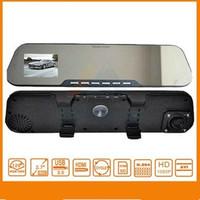 Russian Car Rearview Mirror Parking Back Up DVR CAMERA 4xZoom AS HD 1080P Car DVR IR Night Vision G-SENSOR Car Black Box H1415