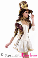 Deluxe Tea Party Hatter Costume LC8487  Halloween Sexy Woman  costume