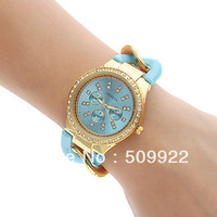 GENEVA Metal Wristwatches Girlfreind Designer Chronograph Style Ladies Watches