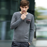 2013 New Arrive Fashion Male Sweater Men's Clothing Knitwear V-neck Slim Cotton Men's Knited Sweater