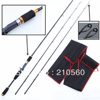 Free Shipping By EMS Luxurious Baitcasting Carbon Casting Fishing Rod  2.10M M&MH Power