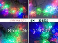 New! 220V EU Plug RGB 4M 20 LED Light Strip String For Party, Christmas tree Halloween Illuminations, Free Shipping