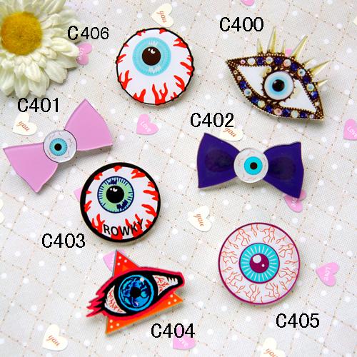 Custom Make All Kinds Of Harajuku Badges And Brooches,Acrylic Bowknot Eye Badges And Brooches(Min order is $10 Mixed order)(China (Mainland))