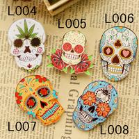 Custom Make All Kinds Of Skeleton Head Acrylic Badges And Japanese Harajuku  Brooches (Min order is $10 Mixed order)
