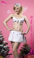 santa claus costume White Sexy Christmas Costume Wholesale & Retail,Snowflake Christmas Lingerie LC7142