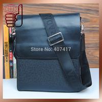 2015 New Arrivel Name Brand Men's Leather Shoulder Bag High Quality Men Messenger Bags Fashion Casual Bag Free Shipping9981-P