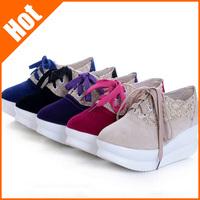 women 2013 autumn fashion wedges elevator swing Sneaker slimming platform casual women's shoes