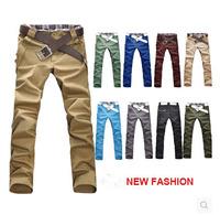Korea Style New Fashion Spring Male Trousers Slim Fit Straight Casual Cotton Harem Pants Men 11 Colors M-XXL
