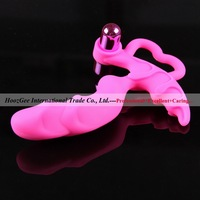 Wholesale 5pcs/lot silicone waterproof g spot tease massage vibrators sex toys adult products XQ-J33