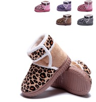 Free Shipping 2013 TOP Winter Warm Snow Shoes Kids For Girls Boys Rubber Fashion Snow Boots For Children Leopard Design