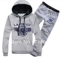 Men Sport Suits Sweat Shirt Coat Plus Size Spring and Autumn Sweatshirt Set Male Cotton Hoodies+Pants Free Shipping