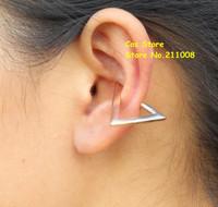 PUNK  Alloy  Hollow  Triangle Openings  Ear Cuff/Ear  Wrap,12pcs/lot,2 colors