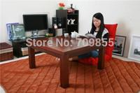 Living Room Floor Seating Furniture Walnut Color Square Type 80cm Low Coffee Kotatsu Foot Warmer Heated Japanese Floor Table