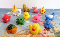 Baby Bath Toys Sounding Bath Toys 13 Pics/set Animal Bathing With Your Kids Safe Plastic Toys Free Shipping
