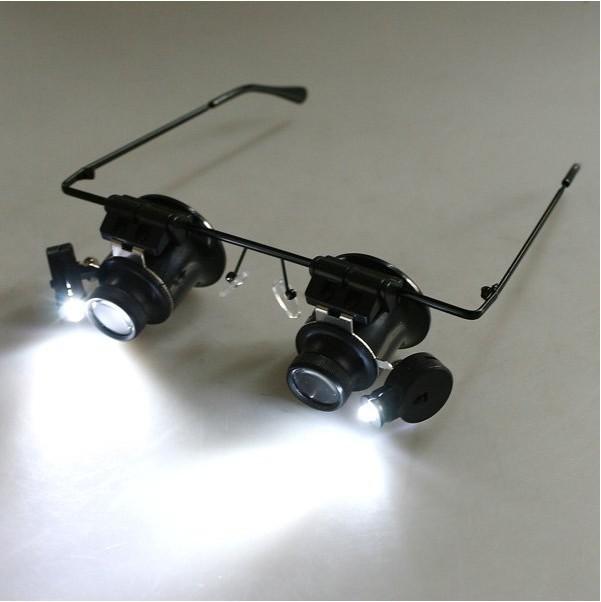 20X Magnifier Magnifying LED Light Glass Loupe Lens Eye Jeweler Watch Repair Freeshipping Dropshipping(China (Mainland))