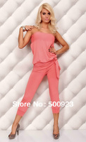 Free Shipping 2013 New  Women Black Strapless Babydoll Mini Romper Hot  Sexy Jumpsuit F4052