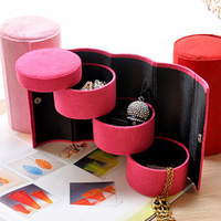 Free Shipping High Qaulity 3 Layers Cosmetic Box Makeup Bag Jewelry box Storage Organizer Case HK-51