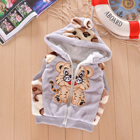Wholesale Free Shipping /new 2013 Autumn Winter Tiger Cartoon Children Wool Vest /2-4 Years Old Boys And Girls Coat 3 Color
